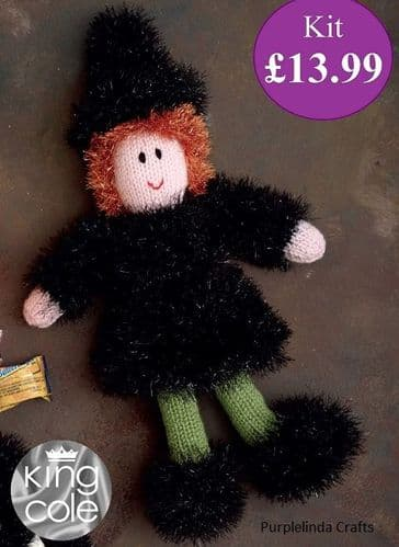 King Cole Tinsel Halloween WITCH Knitting KIT
