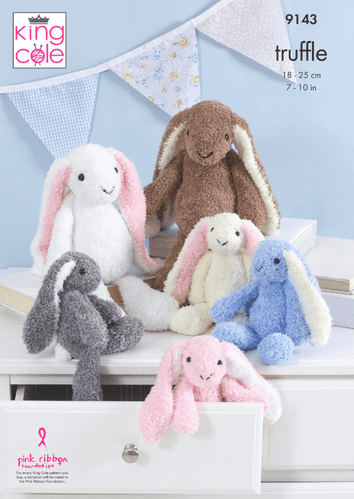 King Cole Truffle RABBITS Knitting Pattern 9143