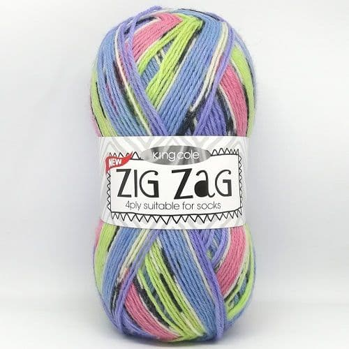 King Cole ZIG ZAG 4ply 3239 Fruit Pastille DISCONTINUED