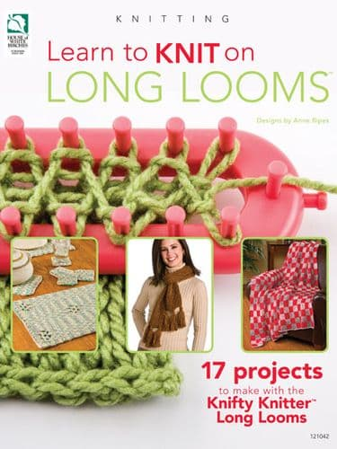 Learn to Knit on Long Looms Book HWB 121042 REDUCED