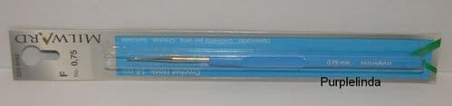 Milward Crochet Hook - Plastic Handle Steel 0.75mm