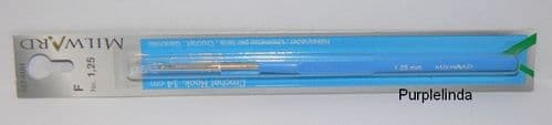 Milward Crochet Hook - Plastic Handle Steel 1.25mm