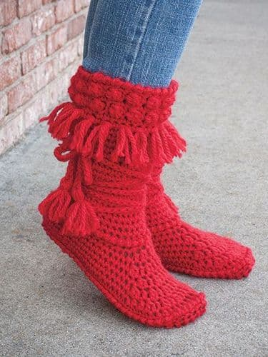 Mukluk Crochet Booties Pattern Annies 886065 DISCONTIUED