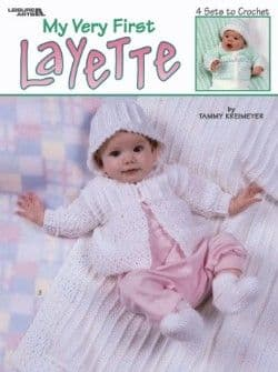 My Very First Layettes Baby Crochet Pattern Book LA 3162 DISCONTINUED