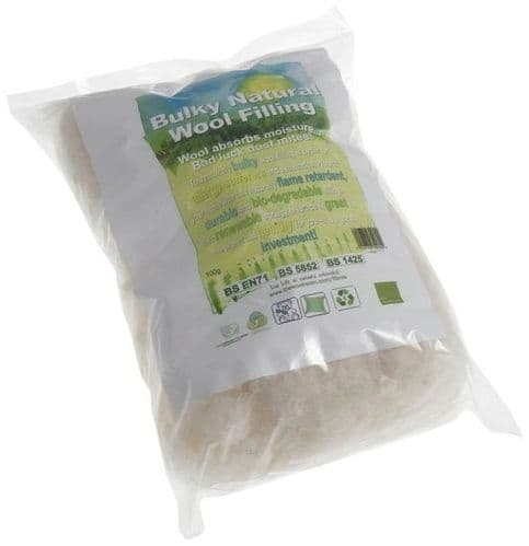 Natural Wool Filling Bulky 100g Stuffing