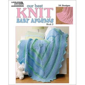Our Best Knit Baby Afghans Knitting Book LA 5124 DISCONTINUED