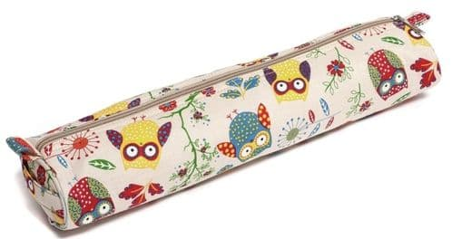 OWL Knitting Pin Tunisian Hook Case (Tube)
