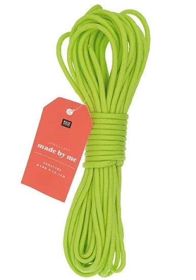 Paracord 4mm x 10m Neon Green