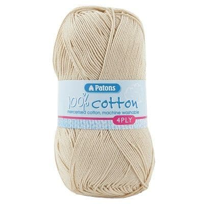Patons 100% Cotton 4ply 1746 Almond