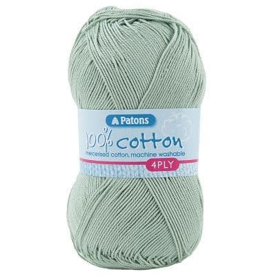 Patons 100% Cotton 4ply 1747 Pale Green
