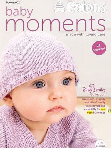 Patons Baby Moments Knitting Crochet Book 002