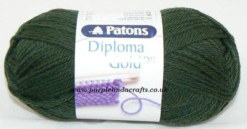 Patons Diploma Gold DK Yarn 6131 BOTTLE GREEN