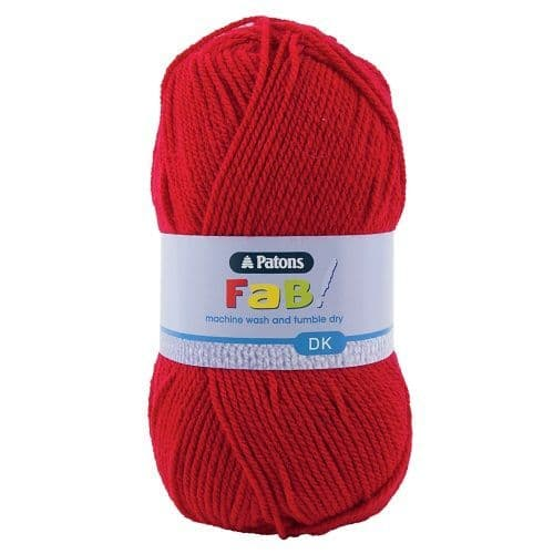 Patons FAB DK 2322 CHERRY Red