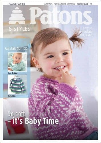 Patons Fairytale Soft DK Baby Knitting Book 3843