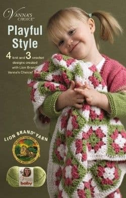 Playful Style Crochet & Knit Pattern Book A5 75341 DISCONTINUED