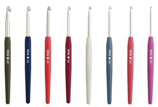 Prym COLOR Soft Handle Crochet Hooks - 2mm to 6mm
