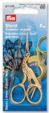 Prym Embroidery Scissors STORK Gold-Plated