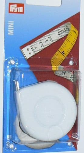 "Prym MINI Spring Tape Measure 60"" 150cm"