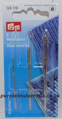 Prym Wool & Tapestry Needles x 3 M L XL