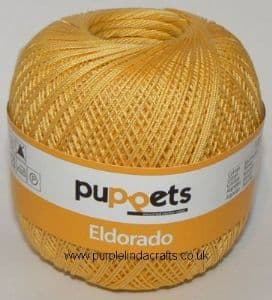 Puppets Eldorado No.12 Crochet Cotton 4237 Yellow 50g