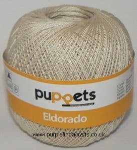Puppets Eldorado No.12 Crochet Cotton 4269 Beige 50g