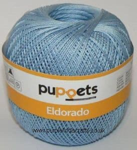 Puppets Eldorado No.12 Crochet Cotton 4280 Pale Blue 50g
