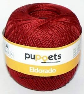 Puppets Eldorado No.12 Crochet Cotton 4321 Deep Red 50g