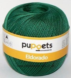 Puppets Eldorado No.12 Crochet Cotton 6332 Dark Green 50g