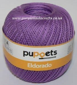 Puppets Eldorado No.12 Crochet Cotton 7098 Violet 50g