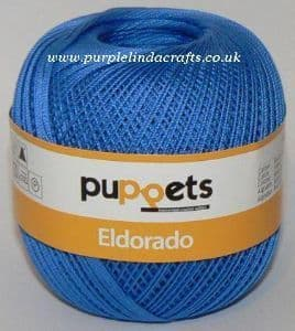 Puppets Eldorado No.12 Crochet Cotton 7132 Blue 50g