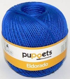 Puppets Eldorado No.12 Crochet Cotton 7133 Royal Blue 50g