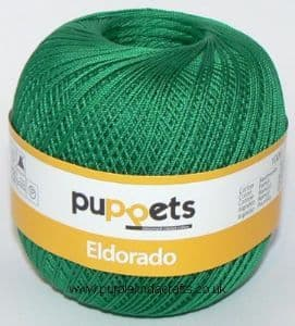 Puppets Eldorado No.12 Crochet Cotton 7228 Emerald Green 50g