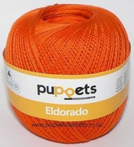 Puppets Eldorado No.12 Crochet Cotton 7329 Orange 50g