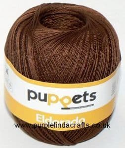 Puppets Eldorado No.12 Crochet Cotton 7359 Brown 50g