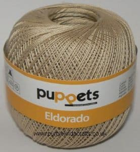 Puppets Eldorado No.12 Crochet Cotton 7502 Ecru 50g