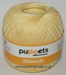 Puppets Eldorado No.12 Crochet Cotton 7515 Lemon 50g
