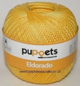 Puppets Eldorado No.12 Crochet Cotton 7516 Yellow 50g
