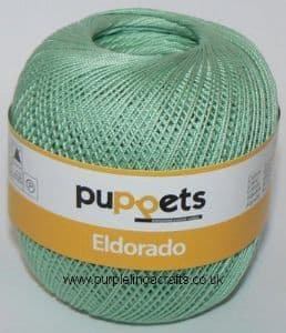 Puppets Eldorado No.12 Crochet Cotton 7518 Minty Green