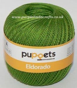 Puppets Eldorado No.12 Crochet Cotton 8255 Apple Green 50g
