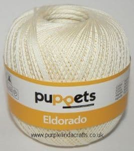 Puppets Eldorado No.12 Crochet Cotton 8926 Cream 50g