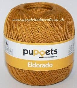 Puppets Eldorado No.12 Crochet Cotton 9532 Gold 50g