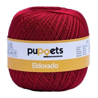 Puppets Eldorado No10 Crochet Cotton 047 Cherry Red 50g