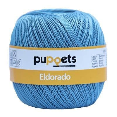 Puppets Eldorado No10 Crochet Cotton 130 Sky Blue 50g