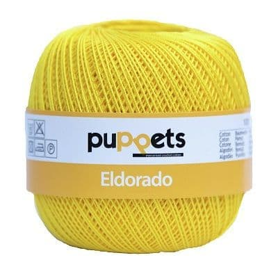 Puppets Eldorado No10 Crochet Cotton 290 Yellow 50g