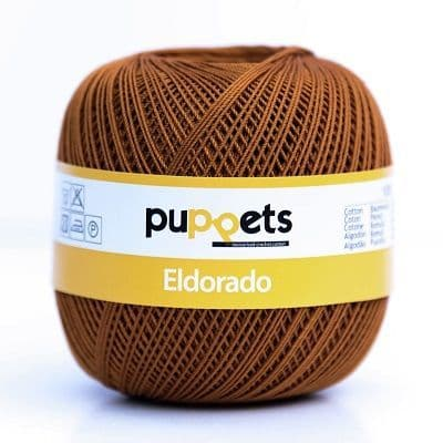 Puppets Eldorado No10 Crochet Cotton 309 Rust Brown 50g