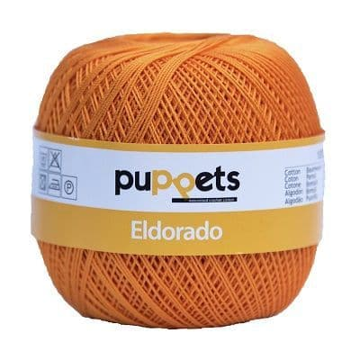 Puppets Eldorado No10 Crochet Cotton 314 Orange 50g