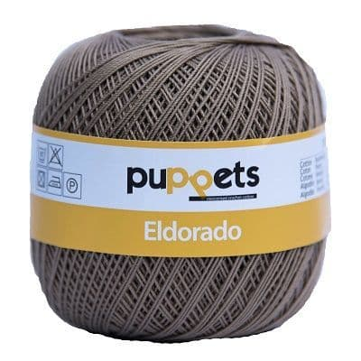 Puppets Eldorado No10 Crochet Cotton 392 Taupe 50g