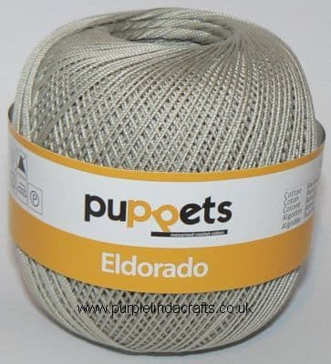 Puppets Eldorado No10 Crochet Cotton 4212 Grey 50g