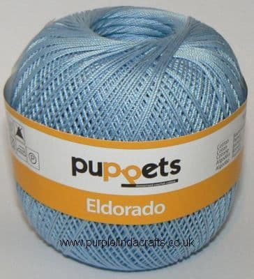 Puppets Eldorado No10 Crochet Cotton 4280 Pale Blue 50g