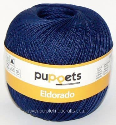 Puppets Eldorado No10 Crochet Cotton 4289 NAVY 50g